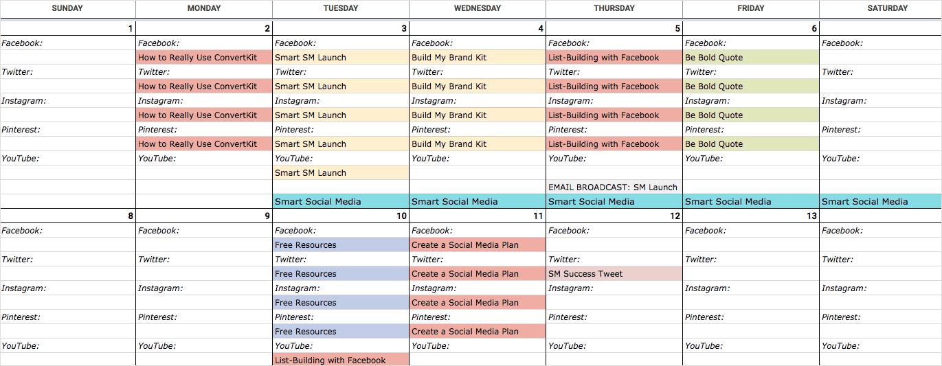 Create a Social Content Calendar
