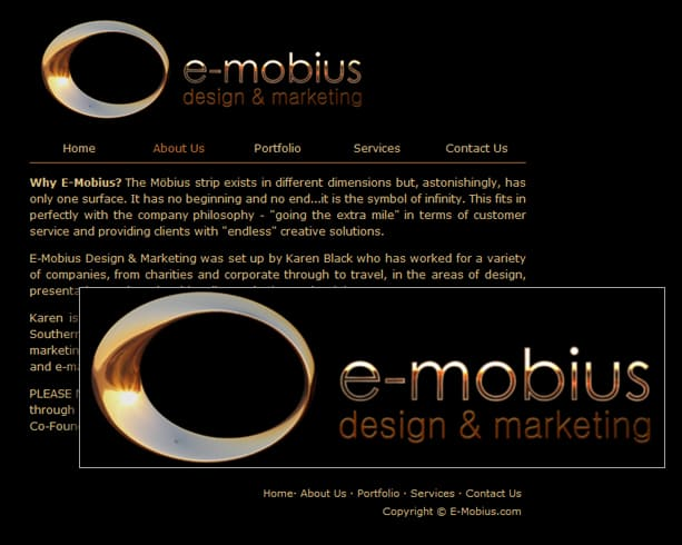 e-mobius_design_website_and_logo