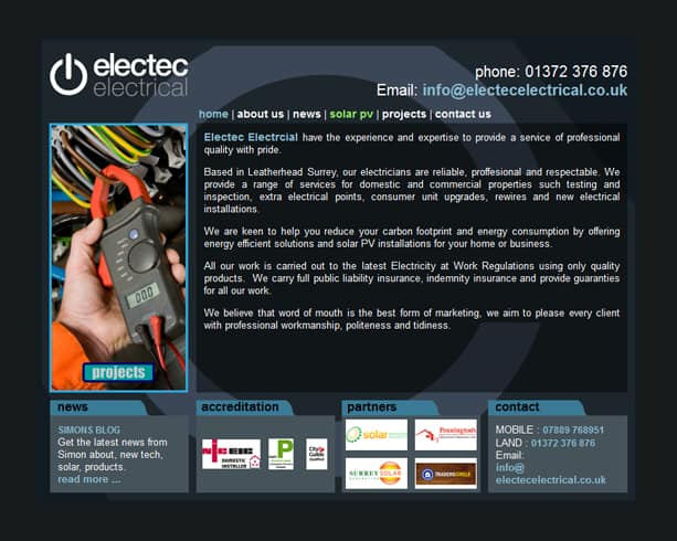 Mamba Media Portfolio - Electec Electrical