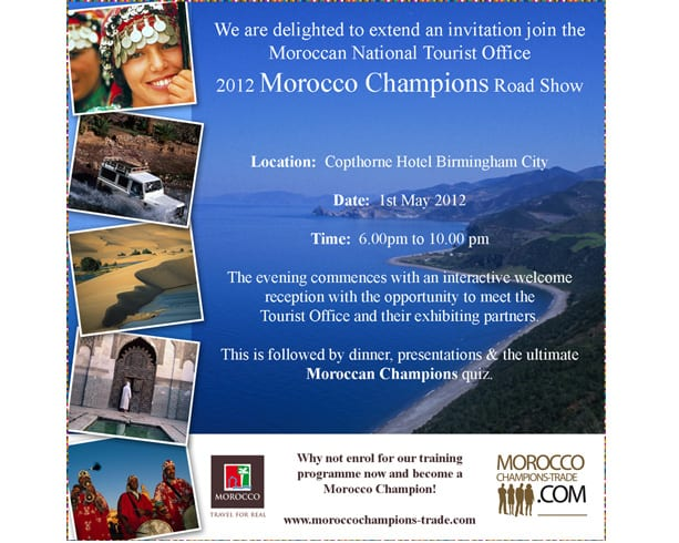 Morocco Champions Email Invitation Sample